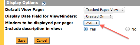More Minders Per Page